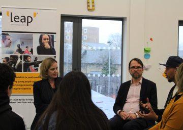 Home Secretary Amber Rudd visits the Qube